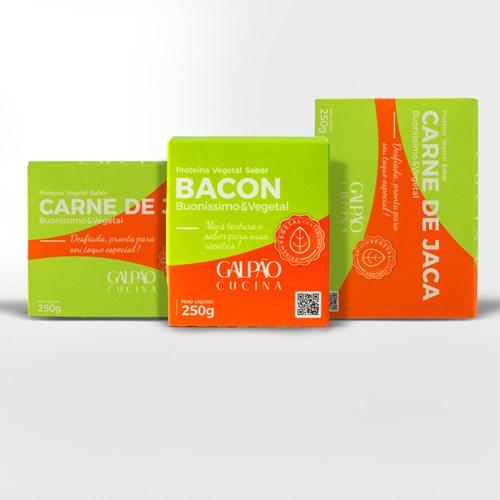 Kit 1 Bacon + 2 Carne de Jaca Vegetal
