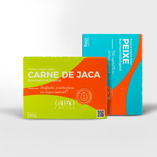 Kit Bacalhoada Carne de Jaca + Peixe Vegetal - 1 Unid Cada