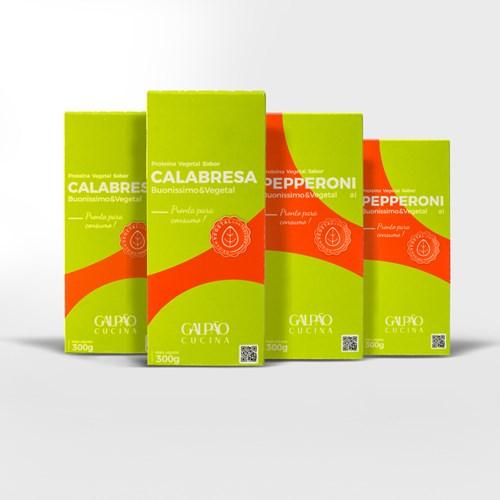 Kit Calabresa + Pepperoni Vegetal - 2 Unids Cada
