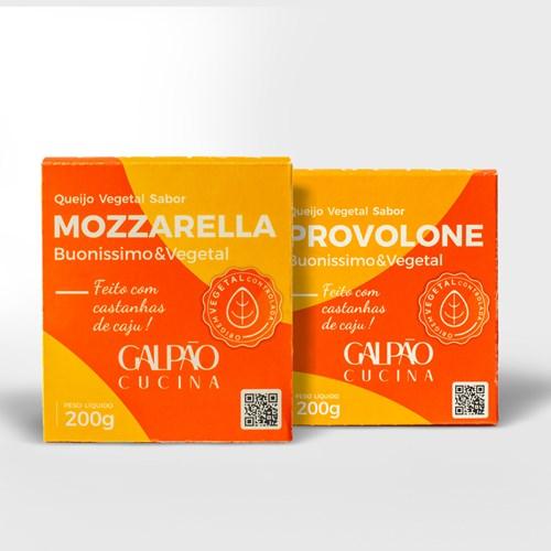 Kit Fondue Mozzarella + Provolone Vegetal - 1 Unid Cada